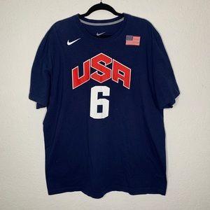 Nike Lebron James Olympic Team T Shirt